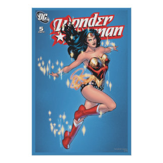 Wonder Woman Vintage Comic Cover Print