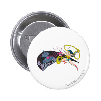 Wonder Woman vs Robot 6 Cm Round Badge