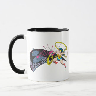 Wonder Woman vs Robot Mug