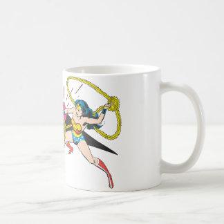 Wonder Woman vs Robot Basic White Mug