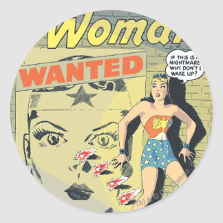 Wonder Woman Wanted Sticker