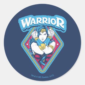 Wonder Woman Warrior Graphic Classic Round Sticker