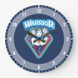 Wonder Woman Warrior Graphic Large Clock