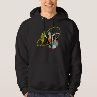 Wonder Woman with City Background Hoodie