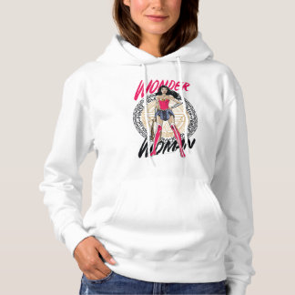 Wonder Woman With Greek Tribal Emblem Hoodie