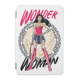 Wonder Woman With Greek Tribal Emblem iPad Mini Cover