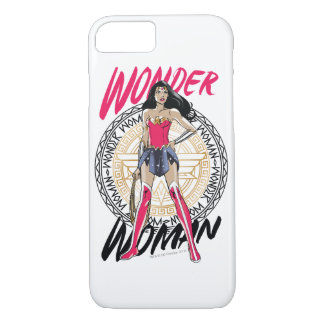 Wonder Woman With Greek Tribal Emblem iPhone 8/7 Case