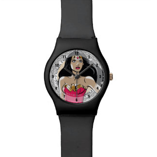 Wonder Woman With Greek Tribal Emblem Watch