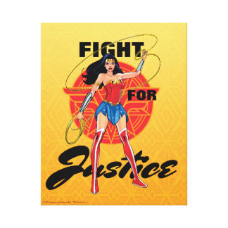 Wonder Woman With Lasso - Fight For Justice Canvas Print