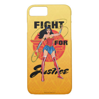 Wonder Woman With Lasso - Fight For Justice iPhone 8/7 Case