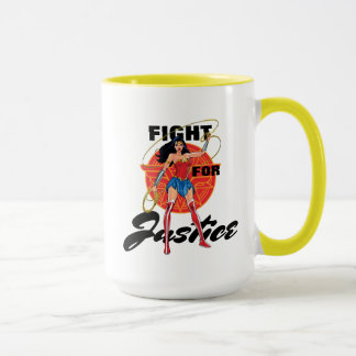 Wonder Woman With Lasso - Fight For Justice Mug