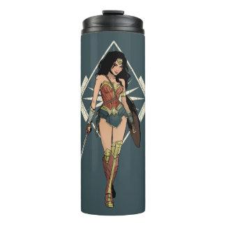 Wonder Woman With Sword Comic Art Thermal Tumbler