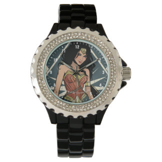 Wonder Woman With Sword Comic Art Watch