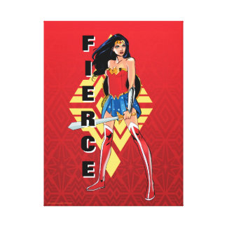 Wonder Woman With Sword - Fierce Canvas Print