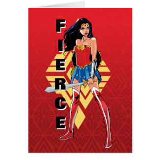 Wonder Woman With Sword - Fierce Card