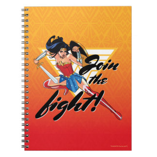 Wonder Woman With Sword - Join The Fight Notebook