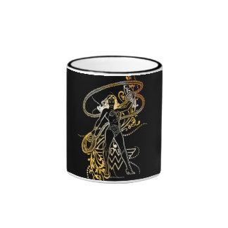 Wonder Woman Yellow Fade Ringer Mug