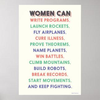 "Wonder Women ""Women Can…"" Litany Poster"