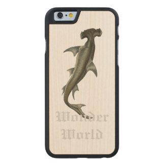 """""""Wonder World"""" - Hammer Head Carved® Maple iPhone 6 Slim Case"""