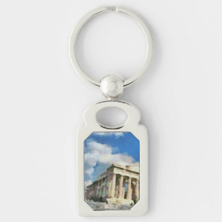 Wonderful Acropolis in Athens Silver-Colored Rectangle Key Ring
