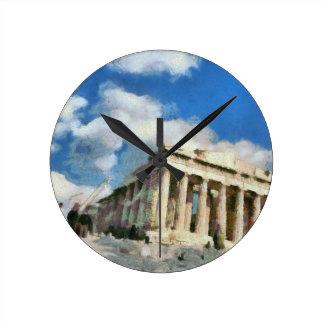 Wonderful Acropolis in Athens Wallclocks