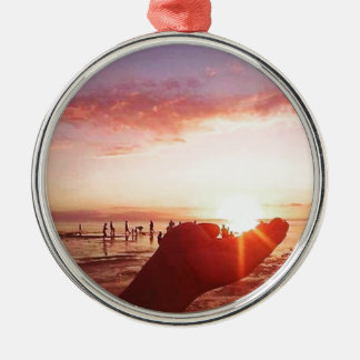 Wonderful and Incredible Sunset in the Philippines Metal Ornament