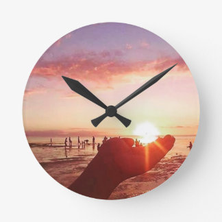 Wonderful and Incredible Sunset in the Philippines Round Clock