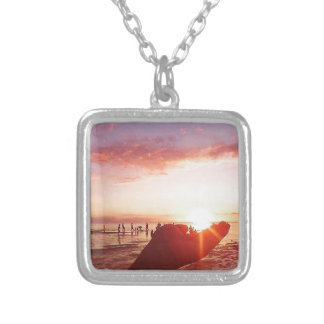 Wonderful and Incredible Sunset in the Philippines Silver Plated Necklace
