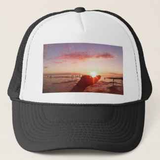 Wonderful and Incredible Sunset in the Philippines Trucker Hat