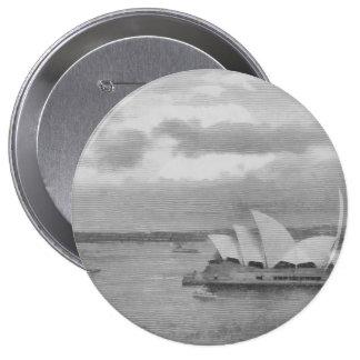 Wonderful architecture of Sydney Opera House 10 Cm Round Badge