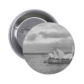 Wonderful architecture of Sydney Opera House 6 Cm Round Badge