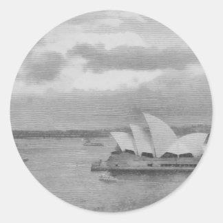 Wonderful architecture of Sydney Opera House Round Sticker