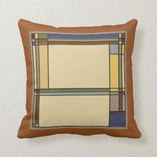 Wonderful Arts & Crafts Geometric Patterns in Fall Cushion