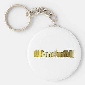 Wonderful Basic Round Button Key Ring