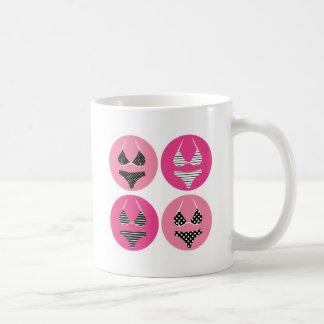 Wonderful bikini on pink coffee mug