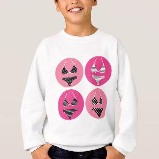 Wonderful bikini on pink sweatshirt