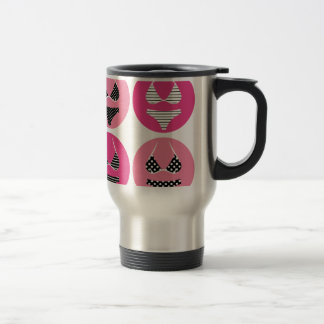 Wonderful bikini on pink travel mug