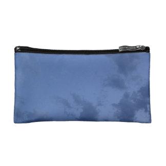 Wonderful blue evening sky makeup bags