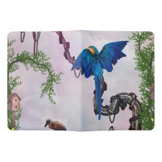 Wonderful blue parrot extra large moleskine notebook