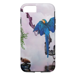 Wonderful blue parrot iPhone 8/7 case