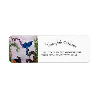 Wonderful blue parrot return address label