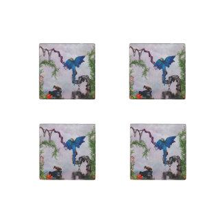 Wonderful blue parrot stone magnet