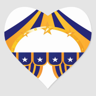 Wonderful blue Tent Heart Sticker