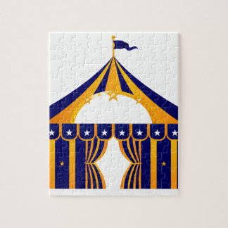 Wonderful blue Tent Jigsaw Puzzle