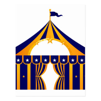 Wonderful blue Tent Postcard
