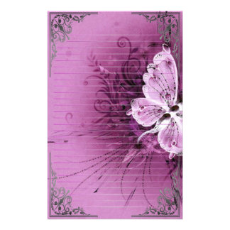 Wonderful Butterflies Pixel Art Stationery