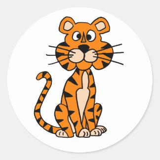Wonderful Cartoon Tiger Design Classic Round Sticker