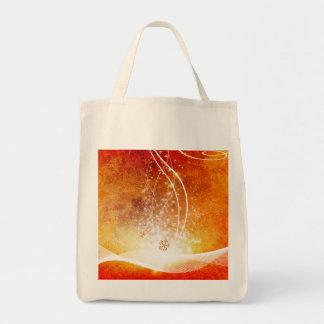 Wonderful christmas design grocery tote bag