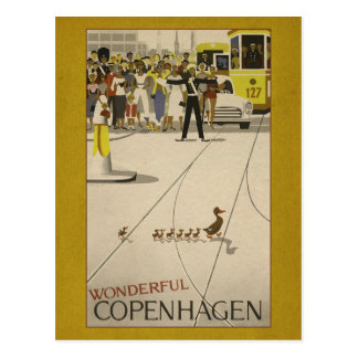 Wonderful Copenhagen Vintage Travel Postcard