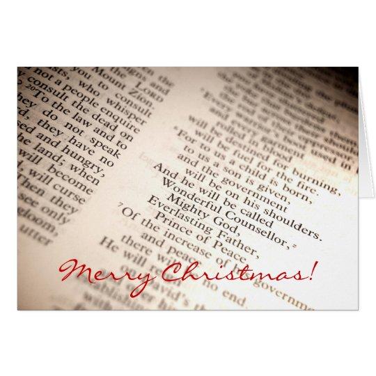 Wonderful Counsellor, Mighty God [Christmas Card] Card